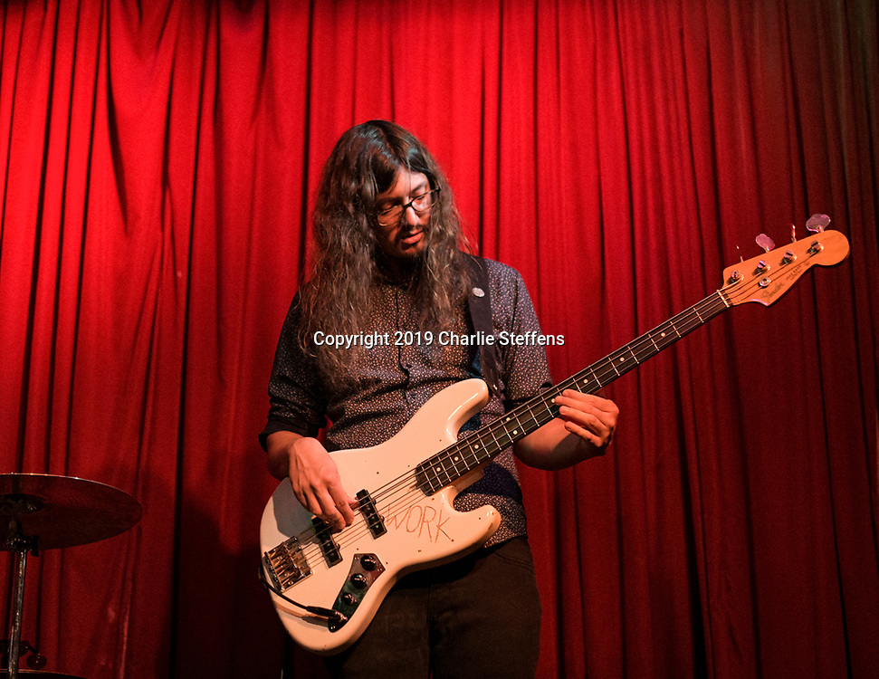 EVAN SARVER of Southern Avenue performs at Hotel Cafe in Los Angeles, California.