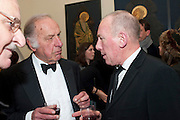 GEOFFREY PALMER; CHRISTOPHER TIMOTHY, DRINKS AFTER SERVICE IN AID OF THE ABBEYFIELD SOCIETY. St. Peter's church. Eaton Sq. London. 13 December 2011.