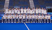 TOKIO -  Ceremony, België met goud, ,  na  de hockey finale mannen, Australie-Belgie (1-1), België wint shoot outs en is Olympisch Kampioen,  in het Oi HockeyStadion,   tijdens de Olympische Spelen van Tokio 2020.   COPYRIGHT KOEN SUYK