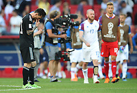 Football - 2018 FIFA World Cup - Group D: Argentina vs. Iceland<br /> <br /> Lionel Messi of Argentina is seen at full time at Spartak Stadium (Otkritie Arena), Moscow.<br /> <br /> COLORSPORT/IAN MACNICOL