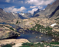 Titcomb Basin and Continental Divide, Bridger Wilderness, Wind River Range Wyoming