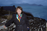 26-2-2015: Labour leader Joan Burton pictured on a visit to the Cill Riallaigh Artist retreat in Ballinskelligs in County Kerry on Thursday night ahead of the Labour Party Conference in Killarney this weekend.<br /> Picture by Sally MacMonagle<br /> <br /> Repro free photo labour party