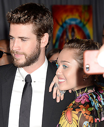 "The World Premiere of Marvel Studios ""Thor: Ragnarok"". 10 Oct 2017 Pictured: Miley Cyrus, Liam Hemsworth. Photo credit: MEGA TheMegaAgency.com +1 888 505 6342"