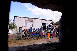 South Africa - Fort Beaufort - 13 - August - 2020 - Newtown township has been hit hard by corona. Gift of the givers distrubuted food  parcels to the most vulnerable in the area. Photographer Ayanda Ndamane African News Agency(ANA)