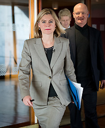 © Licensed to London News Pictures. 29/11/2018. London, UK.  Justine Greening MP arrives to speak on developments in the Brexit debate at a People's Vote Campaign event held at the Southbank Centre in London.  Photo credit: Vickie Flores/LNP