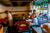 Women making tortillas, Old Town Mexican Cafe, Old Town, San Diego, California USA.