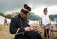 Battle of Waterloo 200th reenactment, Belgium (Saturday 20 June 2015). French bivouac.  © Rudolf Abraham