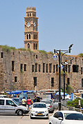 The Clock Tower in akko or Acre, a city in northern Israel with a history spanning centuries. It also played a major role in the holy land crusades