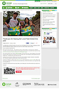 2013 10 22 Tearsheet Oxfam Australia Thank you for helping eat local Indonesia