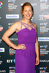 © Licensed to London News Pictures. 08/05/2014, UK. Lizzy Yarnold, BT Sport Industry Awards 2014, Battersea Evolution, London UK, 08 May 2014. Photo credit : Brett D. Cove/Piqtured/LNP