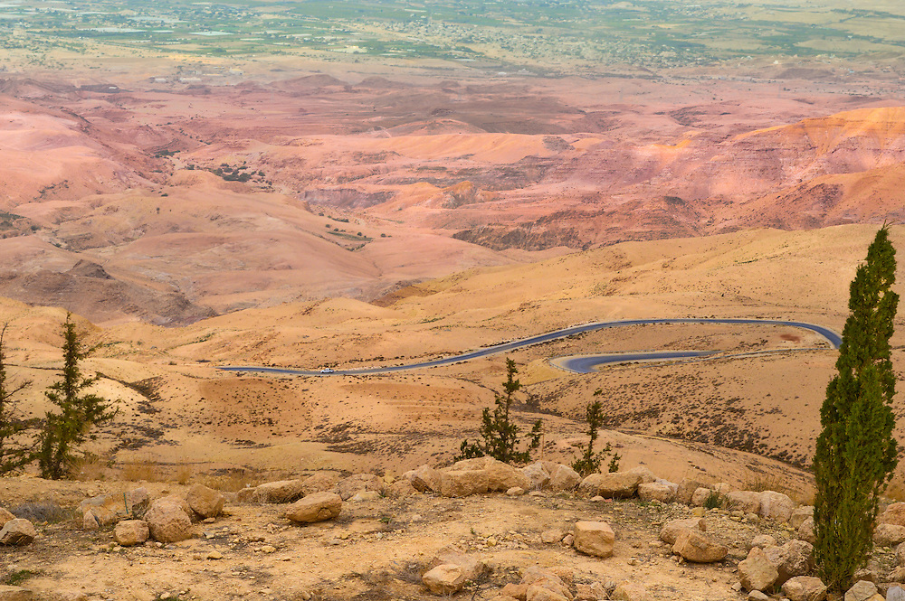 Some of the most beautiful roads in the Middle East can be found between Mount Nebo and The Dead Sea in Jordan.