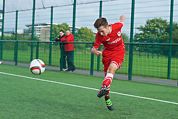 NEWPORT, WALES - Wednesday, August 3, 2016: North Wales Academy Boys' Harvey Tattum during the Welsh Football Trust Cymru Cup 2016 at Newport Stadium. (Pic by Ian Cook/Propaganda)