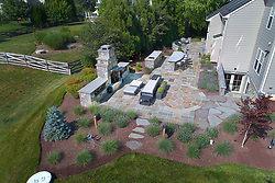 19595 Aberlour rear exterior landscaping aerial exterior stone landscaping