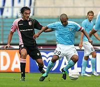 Roma 25/9/2005 Campionato Italiano Serie A <br /> Lazio Palermo 4-2 <br /> Fabio Liverani Lazio Simone Barone Palermo<br /> Photo Andrea Staccioli Digitalsport<br /> Norway only