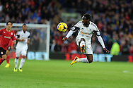 Swansea city's Nathan Dyer in action. Barclays Premier League match, Cardiff city v Swansea city at the Cardiff city stadium in Cardiff, South Wales on Sunday 3rd Nov 2013. pic by Andrew Orchard, Andrew Orchard sports photography,