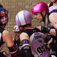 Halifax Bruising Banditas take on North Wales Roller Derby on Day 4 of the  Tier 3 North British Championships