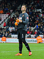 Artur Boruc (1) of AFC Bournemouth during the The FA Cup 3rd round match between Bournemouth and Brighton and Hove Albion at the Vitality Stadium, Bournemouth, England on 5 January 2019.