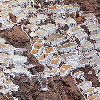 The salt ponds of Maras are located in the sacred valley, north of Cusco.