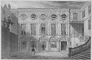 Brewers' Hall, Addle Street, engraving 'Metropolitan Improvements, or London in the Nineteenth Century' London, England, UK 1828 , drawn by Thomas H Shepherd