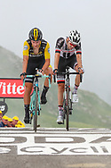 Tom Dumoulin (NED - Team Sunweb) and Primoz Roglic (SLO - Team LottoNL - Jumbo) cross the finish line after the heavy stage of the Col du Portet during the 105th Tour de France 2018, Stage 17, Bagneres de Luchon - Col du Portet (65 km) on July 25th, 2018 - Photo George Deswijzen / Pro Shots / ProSportsImages / DPPI