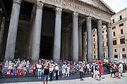 Italy, Rome, Exterior of the Pantheon Piazza della rotonda