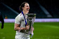 Katy Daley-Mclean of England Women celebrates winning the Women's Six Nations and Grand Slam- Mandatory by-line: Robbie Stephenson/JMP - 16/03/2019 - RUGBY - Twickenham Stadium - London, England - England Women v Scotland Women - Women's Six Nations