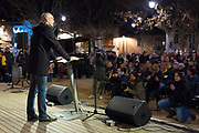 Raul Romeva speaks to a crowd during an Esquerra Republicana de Catalunya (ERC) Placa Barcelona, Sant Cugat del Valles, Barcelona, Catalonia, five days before the December 21st regional elections. Romeva, who was Catalonia's foreign minister - and arguably still is - before Madrid's application of Article 155 of the Spanish constitution, spent 32 days in prison following the October 27 2017 ratification of the October 1st independence referendum. Romeva, and other ministers were released from 'preventive detention' on December 4th, while under investigation for rebellion and sedition. Madrid-born Romeva lives in Sant Cugat.