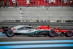 Lewis Hamilton (Mercedes) and Sebastian Vettel (Scuderia Ferrari) ride during the qualifying session of Grand Prix de France 2018, Le Castellet, France, on June 23rd, 2018. Photo by Marco Piovanotto/ABACAPRESS.COM