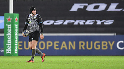 Ospreys' Sam Davies<br /> <br /> Photographer Craig Thomas/Replay Images<br /> <br /> EPCR Champions Cup Round 4 - Ospreys v Northampton Saints - Sunday 17th December 2017 - Parc y Scarlets - Llanelli<br /> <br /> World Copyright © 2017 Replay Images. All rights reserved. info@replayimages.co.uk - www.replayimages.co.uk