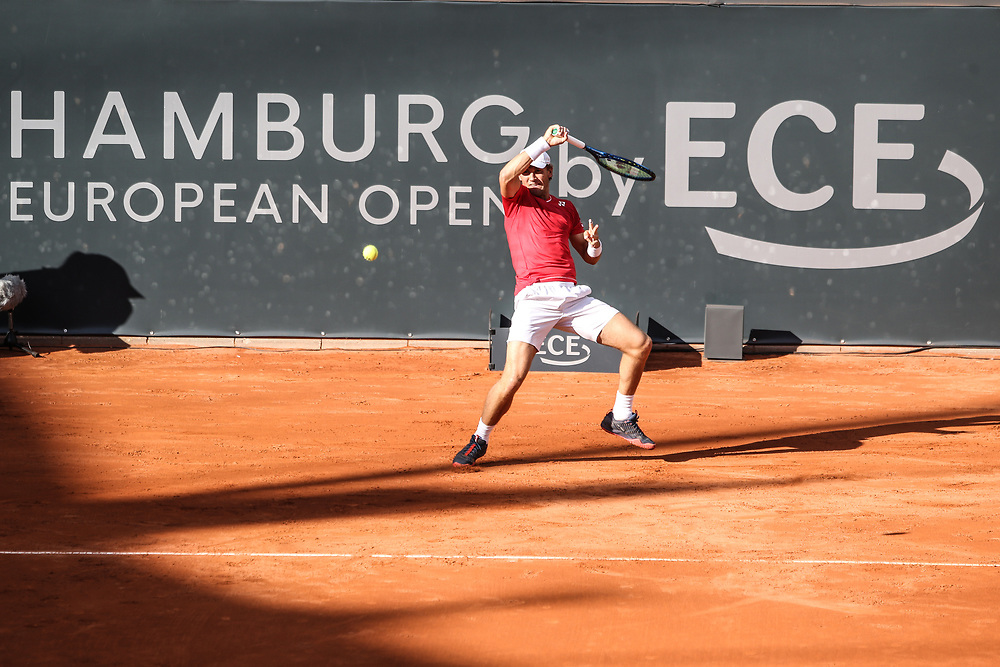 TENNIS: European Open 2020, Rothenbaum, Viertelfinale, Hamburg, 25.09.2020<br /> Ugo Humbert (FRA) - Casper Ruud (NOR)<br /> © Torsten Helmke