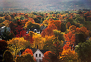 Autumn colorful foliage in New Hampshire. New England, USA.