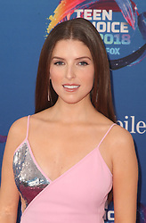 INGLEWOOD, CA - AUGUST 12:Teen Choice 2018 at The Forum in Inglewood. California on August 12, 2018. Credit: Faye Sadou/MediaPunch CAP/MPIFS ©MPIFS/Capital Pictures. 12 Aug 2018 Pictured: Anna Kendrick. Photo credit: MPIFS/Capital Pictures / MEGA TheMegaAgency.com +1 888 505 6342
