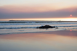 Scenic view of beach during sunset, Viana do Castelo, Norte Region, Portugal