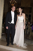 Alix de Marignac and her escort, Sebastien Bertrand. Crillon Debutantes Ball 2002. Paris. 7 December 2002. © Copyright Photograph by Dafydd Jones 66 Stockwell Park Rd. London SW9 0DA Tel 020 7733 0108 www.dafjones.com