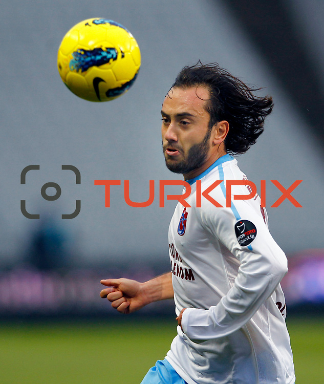 Trabzonspor's Olcan Adin during their Turkish soccer superleague match IBBSpor between Trabzonspor at the Ataturk Olympic stadium in Istanbul Turkey on Saturday 07 January 2012. Photo by TURKPIX