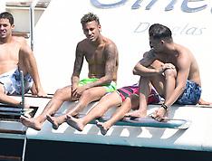 St Tropez: Neymar Having Fun On His Boat - 8 Aug 2017