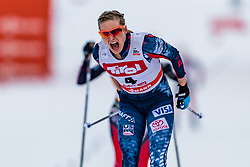 28.01.2018, Seefeld, AUT, FIS Weltcup Langlauf, Seefeld, FIS Weltcup Langlauf, 10 km Sprint, Damen, im Bild Jessica Diggins (USA) // Jessica Diggins of the USA during ladie's 10 km sprint of the FIS cross country world cup in Seefeld, Austria on 2018/01/28. EXPA Pictures © 2018, PhotoCredit: EXPA/ Stefan Adelsberger