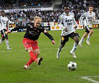 Fotball tippeligaen 12.04.08 Rosenborg ( RBK ) - Fredikstad,<br /> Hans Erik Ramberg setter inn 1-2,<br /> Foto: Carl-Erik Eriksson, Digitalsport