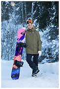 GB Park & Pipe freestyle snowboarder Aimee Fuller shot during the Laax Open