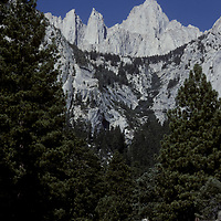 Racers approach Mount Whitney after race from Death Valley.