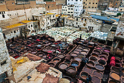Chouara Tannery. Built in the 11th century, it is the largest tannery in the city. It is located in the Fes el Bali, the oldest medina quarter of the city, near the Saffarin Madrasa along the river. Animal hides are dyed and draped over tombstones in a nearby moslem cemetary to dry.