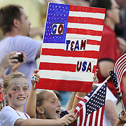 Young USA fans during an international friendly soccer match between Scotland and the United States at EverBank Field on Saturday, May 26, 2012 in Jacksonville, Florida.  The United States won the match 5-1 in front of 44,000 fans. (AP Photo/Alex Menendez)