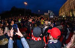 March 15, 2019 - Lille, France - Supporters de l equipe LOSC - ambiance - Arrivee des joueurs de LOSC - Christophe Galtier  (Credit Image: © Panoramic via ZUMA Press)