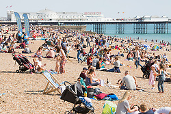 © Hugo Michiels Photography 02/09/2017. Brighton, UK. Members of the public take advantage of the sunny weather to spend some time on the beach in Brighton and Hove.  Photo credit: Hugo Michiels Photography