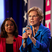 COLUMBIA, SC - JUNE 22:  Senator Elizabeth Warren addresses a question at the We Decide: Planned Parenthood Action Fund 2020 Election Forum to Focus on Abortion and Reproductive Rights event   in Columbia, SC on June, 22 2019. Many of the Democratic candidates running for president are in Columbia to make appearances at the South Carolina Democratic Party Convention and the Planned Parenthood Election Forum on June 22.(Logan Cyrus for AFP)