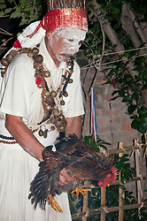 Tamang Shaman sacrifying chicken in ceremony