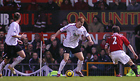 Photo: Paul Thomas.<br />Manchester United v Liverpool. The Barclays Premiership. 22/01/2006.<br /><br />John Arne Riise