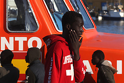 May 23, 2019 - 23 may (Malaga )  Rescued 74 immigrants from two boats in the sea of Alborán. Members of the Maritime Rescue have rescued this afternoon in the vicinity of the island of Alborán two boats occupied by 74 people who are transferred to the ports of Motril and Malaga. One of the boats was occupied by 16 people of Maghrebi origin who had left in the morning from the north of Morocco in the direction of the peninsula. (Credit Image: © Lorenzo Carnero/ZUMA Wire)