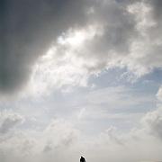 Dad on 75 Mile Beach, Fraser Island, Australia.