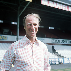 PA NEWS PHOTO MANAGER JACK CHARLTON OF MIDDLESBROUGH FC,1976-77,AT CLUB'S AYRESOME PARK GROUND.